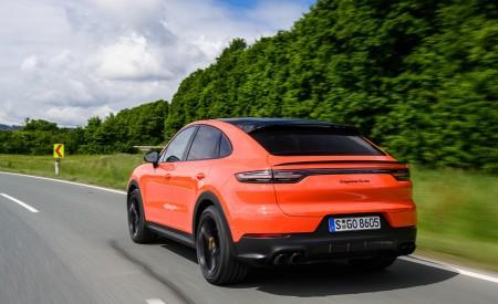 2020 Porsche Cayenne Turbo Coupe (Color: Lava Orange) Rear Three-Quarter Wallpaper 450x275 (17)