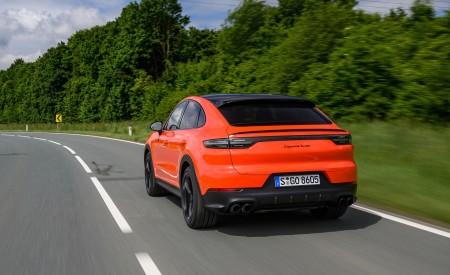 2020 Porsche Cayenne Turbo Coupe (Color: Lava Orange) Rear Three-Quarter Wallpaper 450x275 (18)