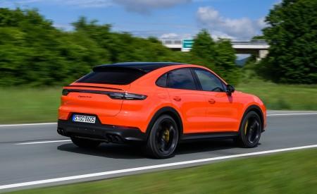 2020 Porsche Cayenne Turbo Coupe (Color: Lava Orange) Rear Three-Quarter Wallpaper 450x275 (20)