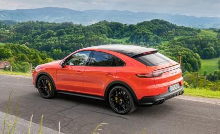 2020 Porsche Cayenne Turbo Coupe (Color: Lava Orange) Rear Three-Quarter Wallpaper 450x275 (29)