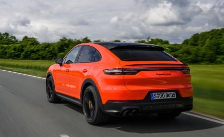 2020 Porsche Cayenne Turbo Coupe (Color: Lava Orange) Rear Three-Quarter Wallpaper 450x275 (21)