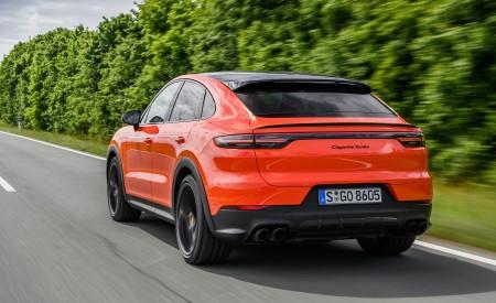 2020 Porsche Cayenne Turbo Coupe (Color: Lava Orange) Rear Three-Quarter Wallpaper 450x275 (10)
