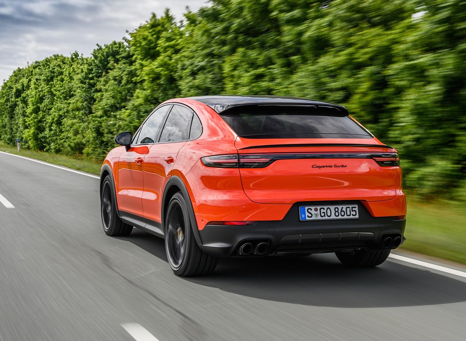 2020 Porsche Cayenne Turbo Coupe (Color: Lava Orange) Rear Three-Quarter Wallpapers (10)