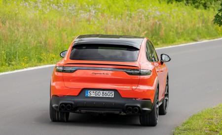 2020 Porsche Cayenne Turbo Coupe (Color: Lava Orange) Rear Wallpapers 450x275 (40)