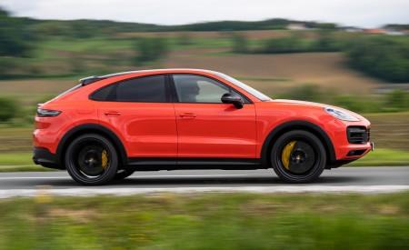 2020 Porsche Cayenne Turbo Coupe (Color: Lava Orange) Side Wallpapers 450x275 (30)