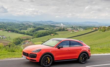 2020 Porsche Cayenne Turbo Coupe (Color: Lava Orange) Side Wallpapers 450x275 (31)