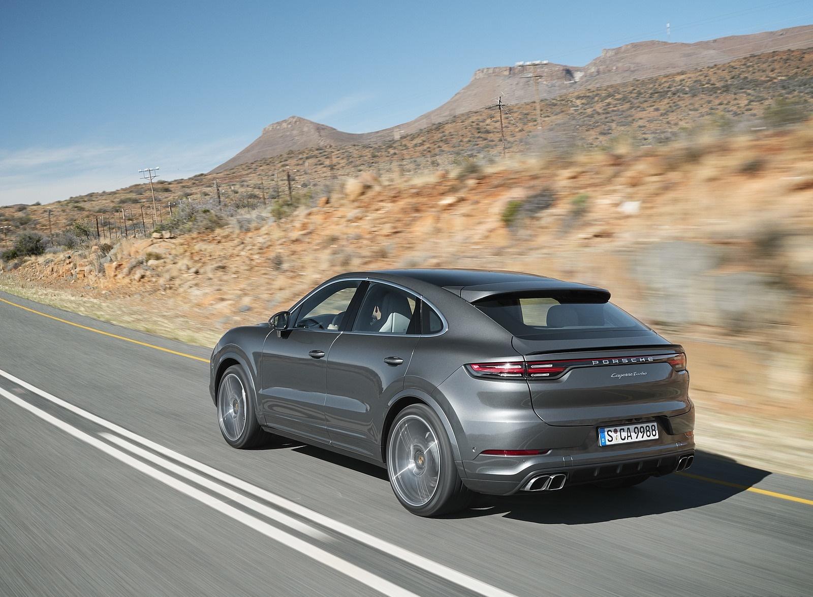 2020 Porsche Cayenne Turbo Coupe Rear Three-Quarter Wallpaper (2)