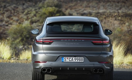 2020 Porsche Cayenne Turbo Coupe Rear Wallpapers 450x275 (64)