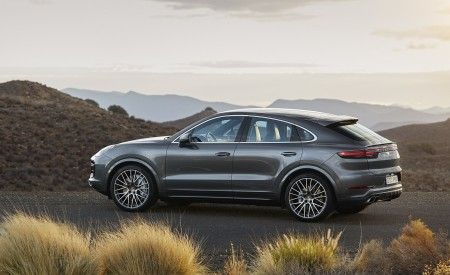 2020 Porsche Cayenne Turbo Coupe Side Wallpapers 450x275 (63)