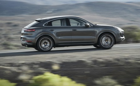 2020 Porsche Cayenne Turbo Coupe Side Wallpapers 450x275 (58)