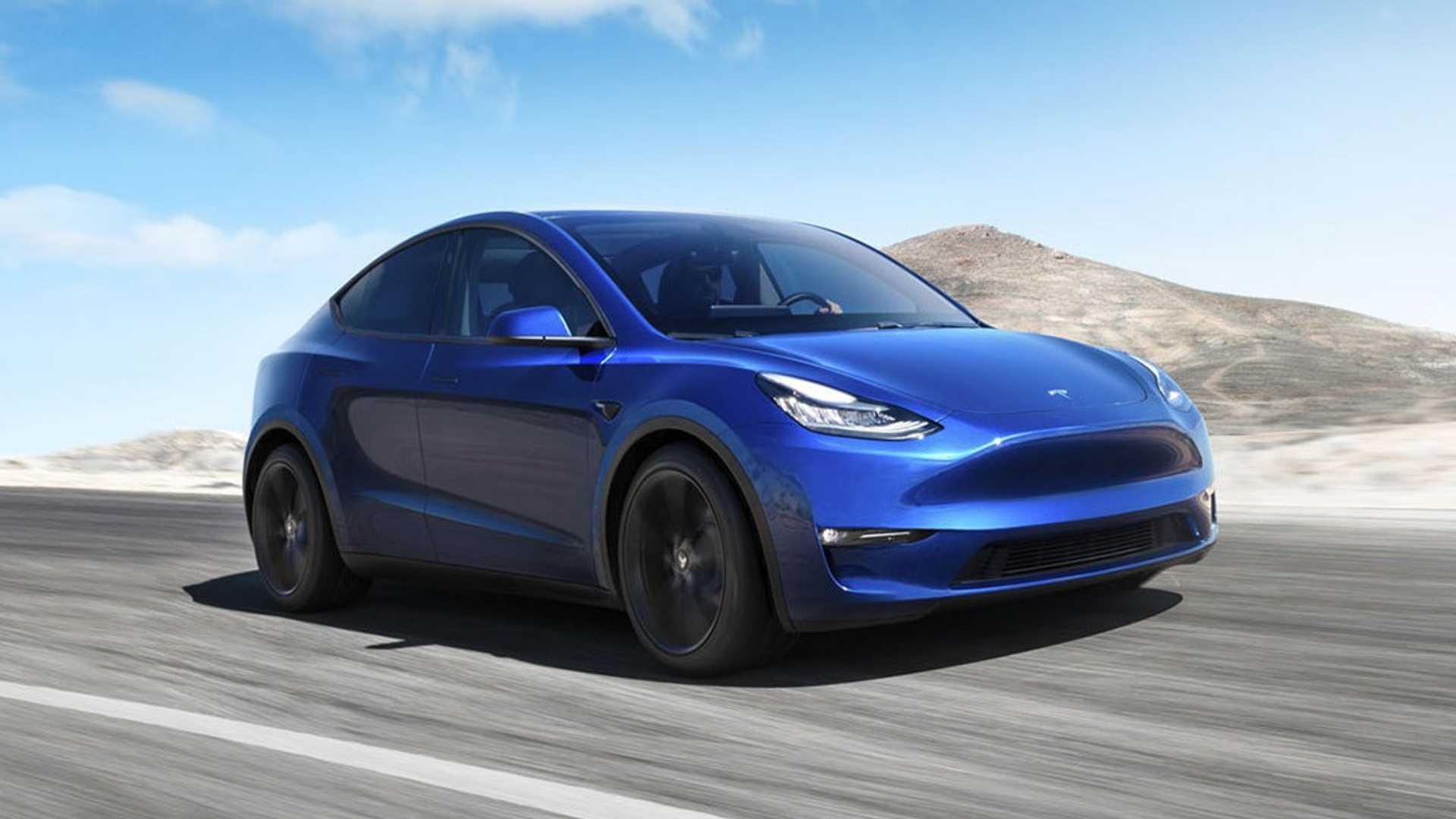 2021 Tesla Model Y Front Wallpapers (1)