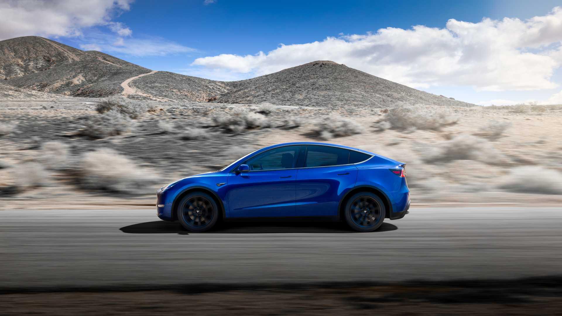 2021 Tesla Model Y Side Wallpapers (3)