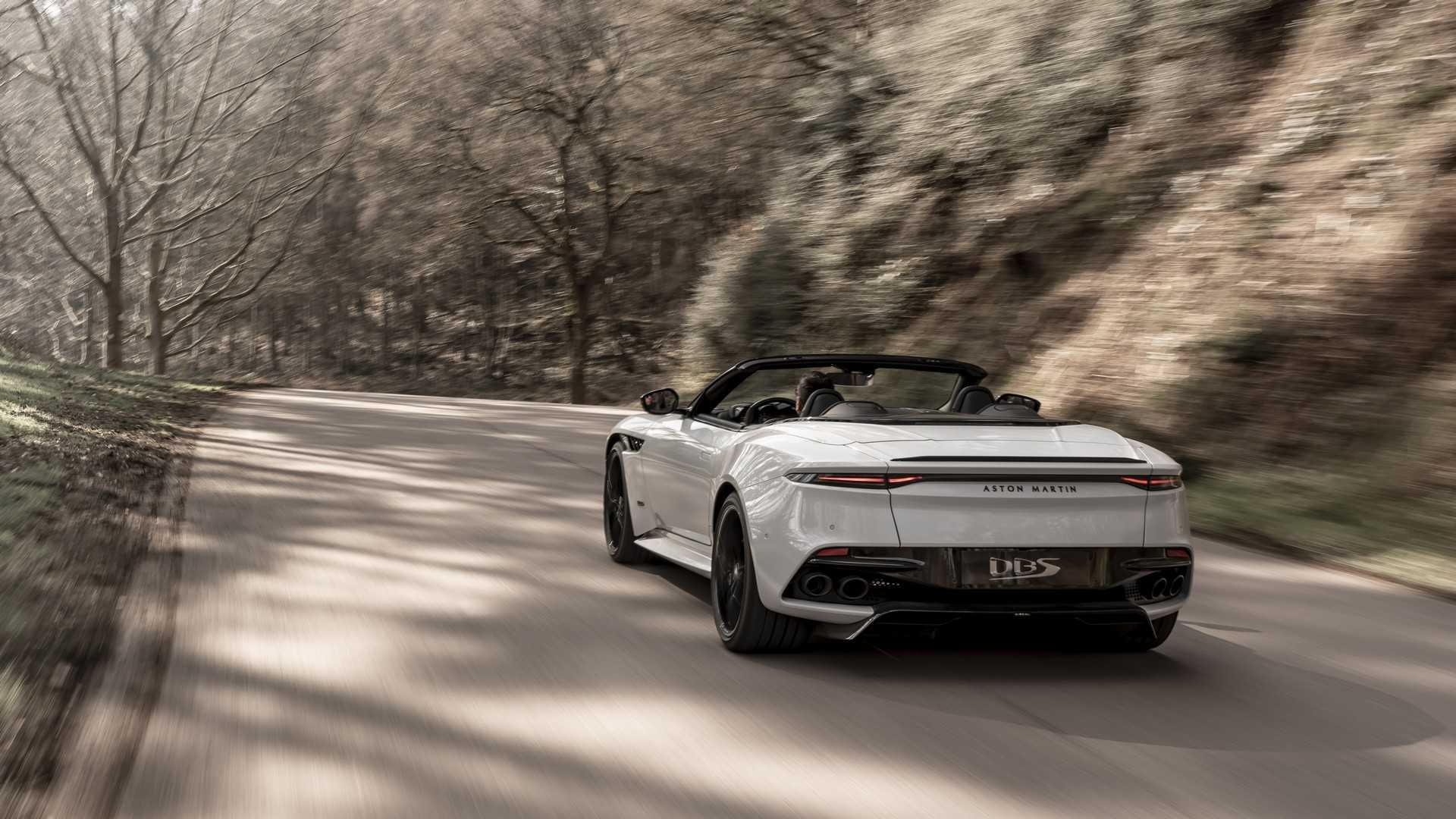 2019 Aston Martin DBS Superleggera Volante Rear Wallpapers (5)