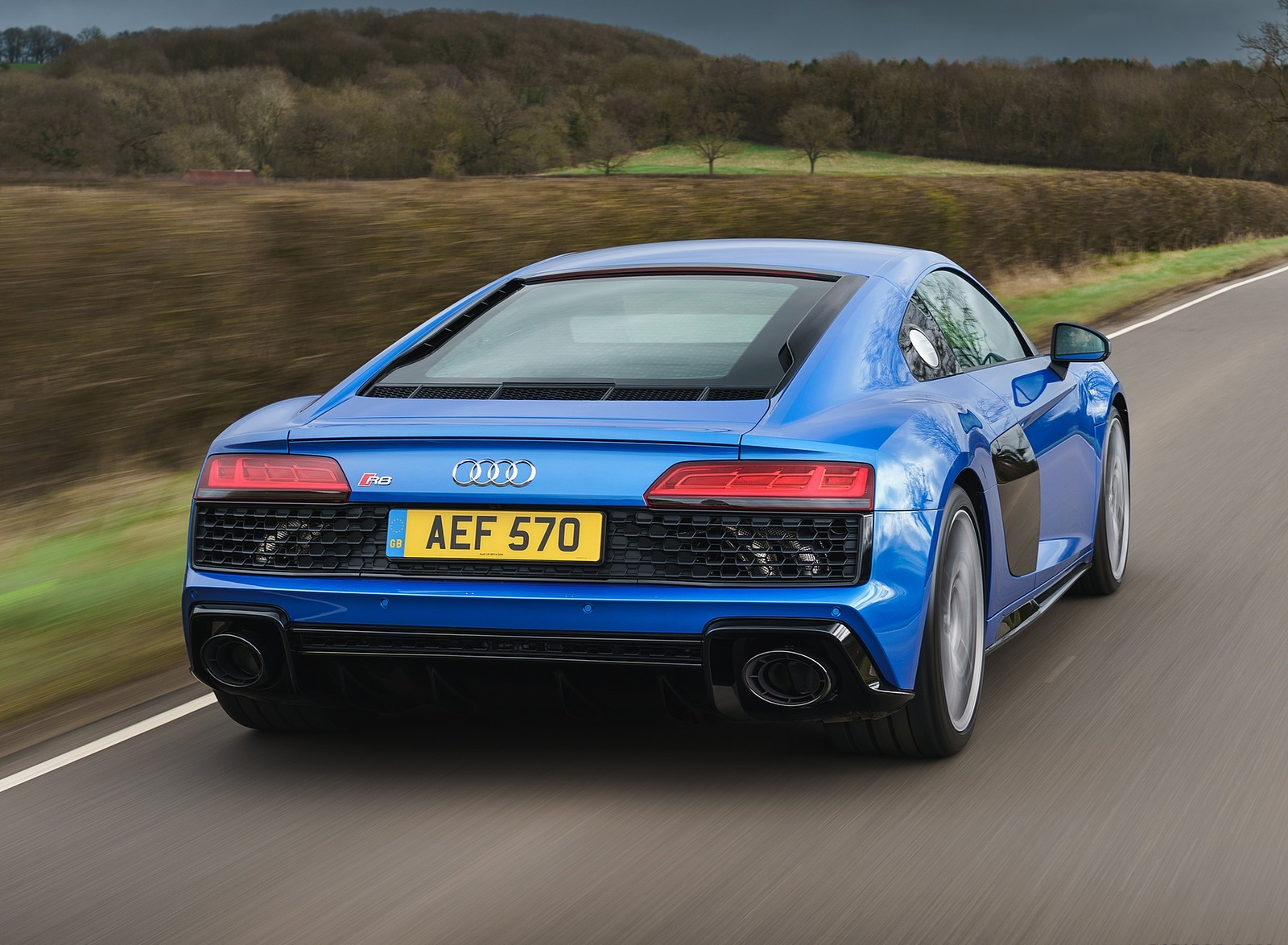 2019 Audi R8 V10 Coupe quattro (UK-Spec) Rear Wallpaper (11)