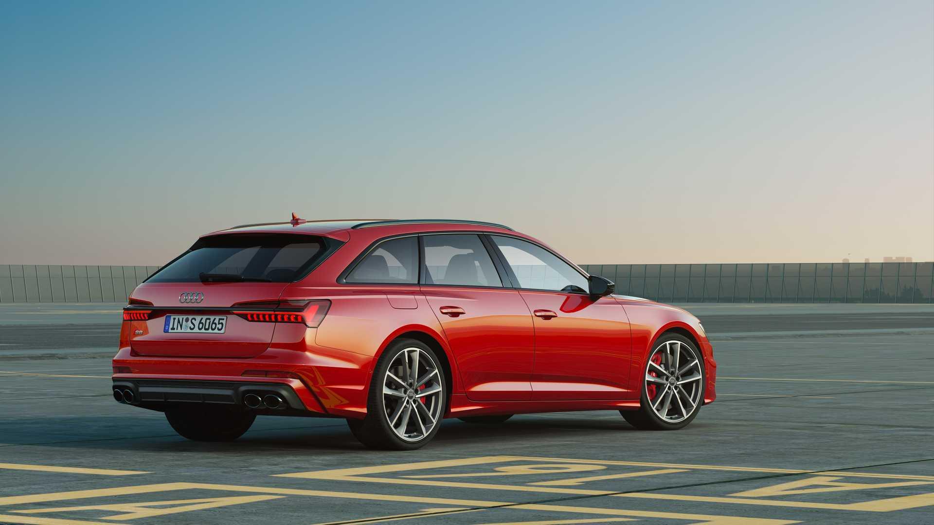 2019 Audi S6 Avant TDI (Color: Tango Red) Rear Three-Quarter Wallpaper (12)