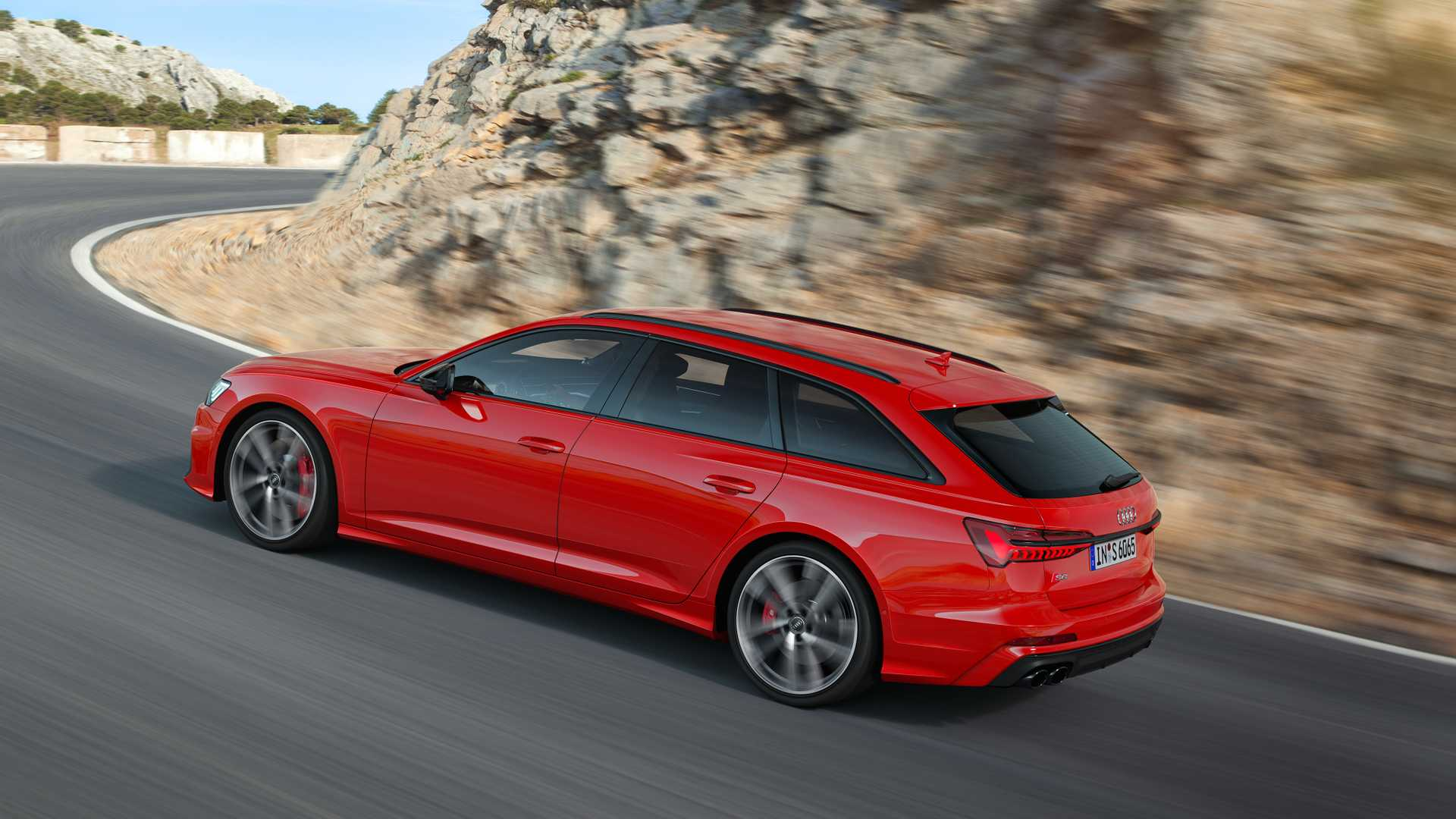 2019 Audi S6 Avant TDI (Color: Tango Red) Rear Three-Quarter Wallpapers (5)