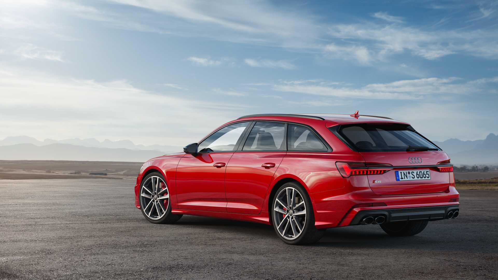 2019 Audi S6 Avant TDI (Color: Tango Red) Rear Three-Quarter Wallpaper (14)