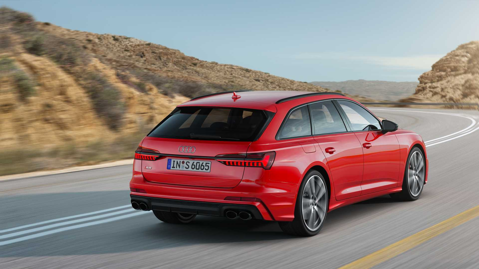 2019 Audi S6 Avant TDI (Color: Tango Red) Rear Three-Quarter Wallpapers (6)