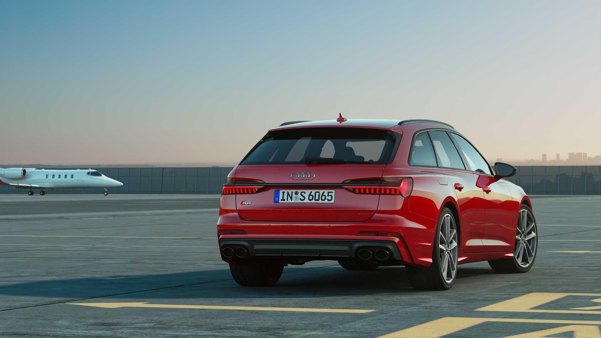 2019 Audi S6 Avant TDI (Color: Tango Red) Rear Wallpaper (15)