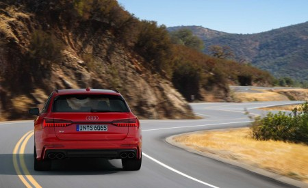 2019 Audi S6 Avant TDI (Color: Tango Red) Rear Wallpaper 450x275 (7)