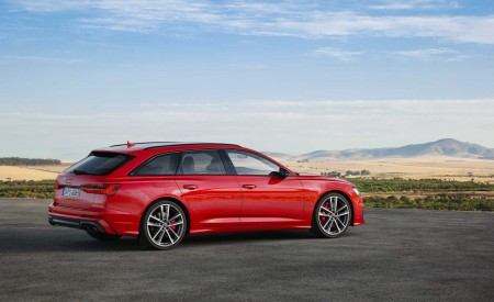 2019 Audi S6 Avant TDI (Color: Tango Red) Side Wallpaper 450x275 (16)