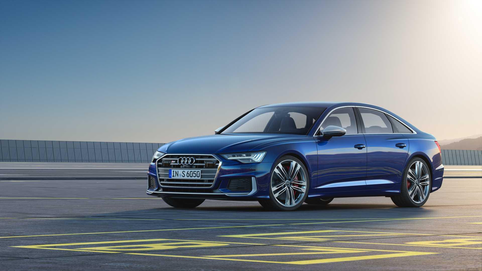 2019 Audi S6 Sedan TDI (Color: Navarra Blue) Front Three-Quarter Wallpaper (8)