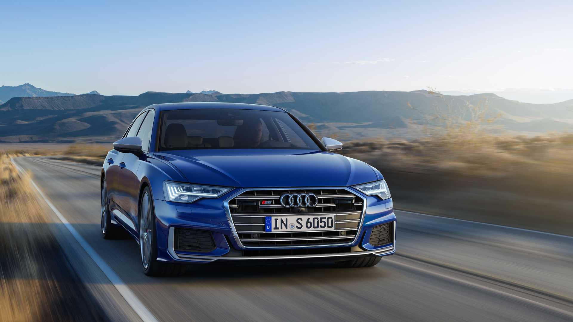 2019 Audi S6 Sedan TDI (Color: Navarra Blue) Front Three-Quarter Wallpaper (3)