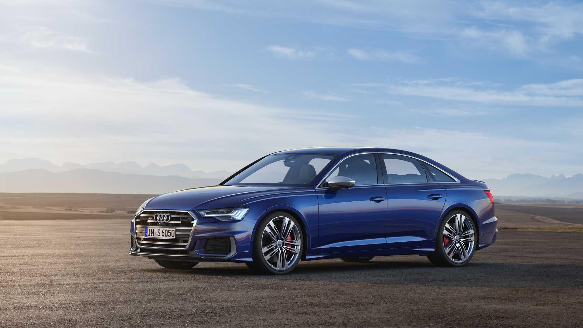 2019 Audi S6 Sedan TDI (Color: Navarra Blue) Front Three-Quarter Wallpaper (10)