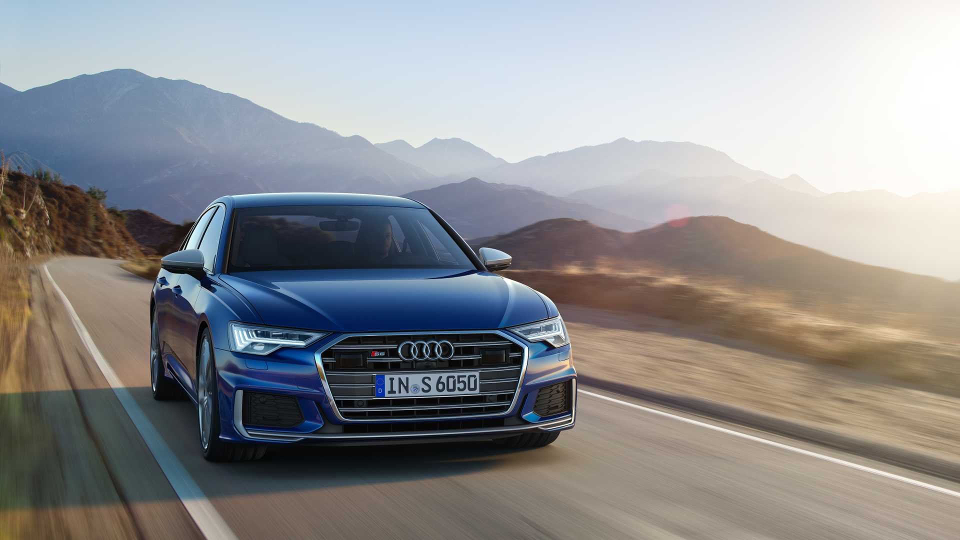 2019 Audi S6 Sedan TDI (Color: Navarra Blue) Front Wallpaper (5)