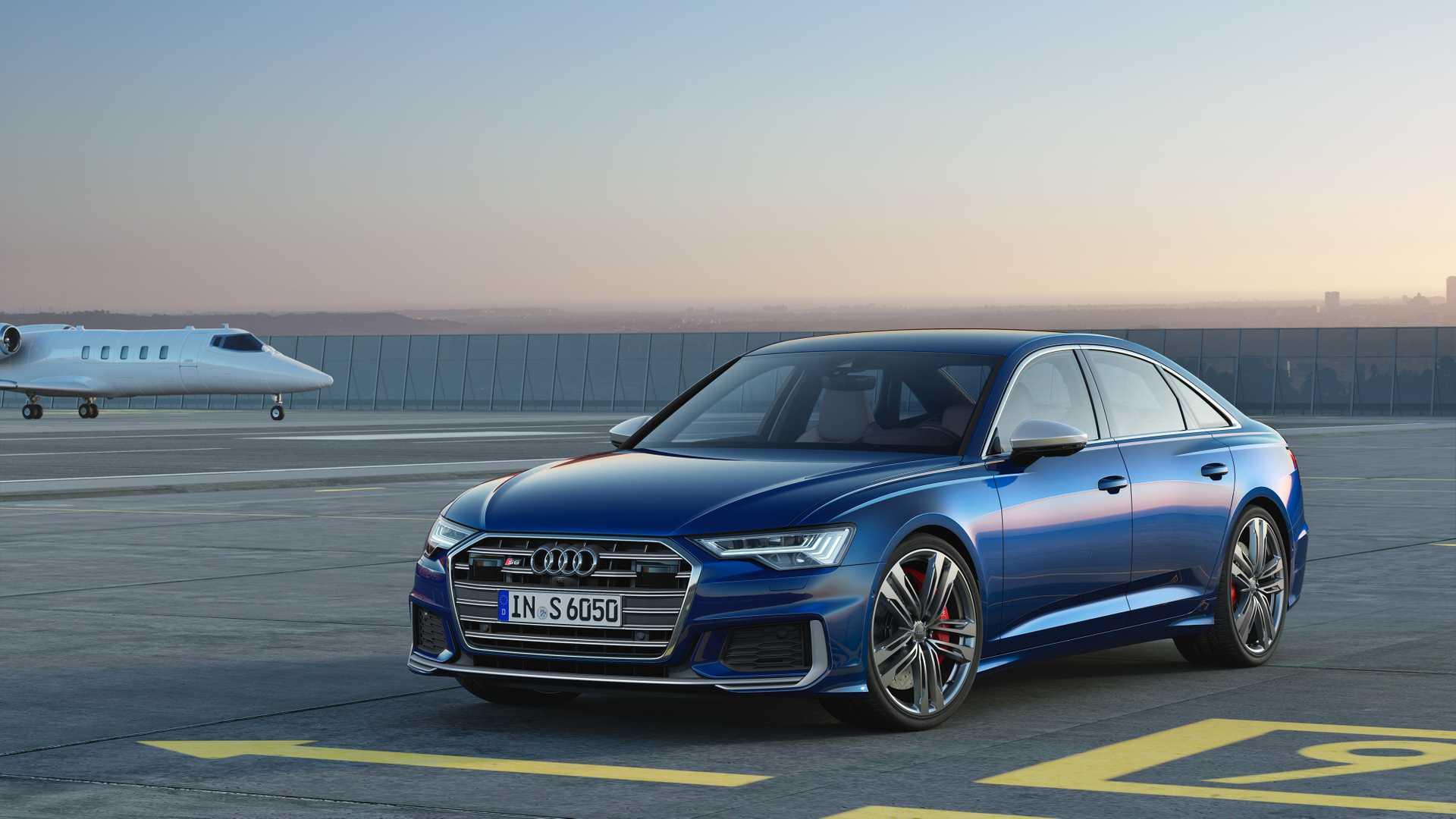2019 Audi S6 Sedan TDI (Color: Navarra Blue) Front Wallpaper (11)