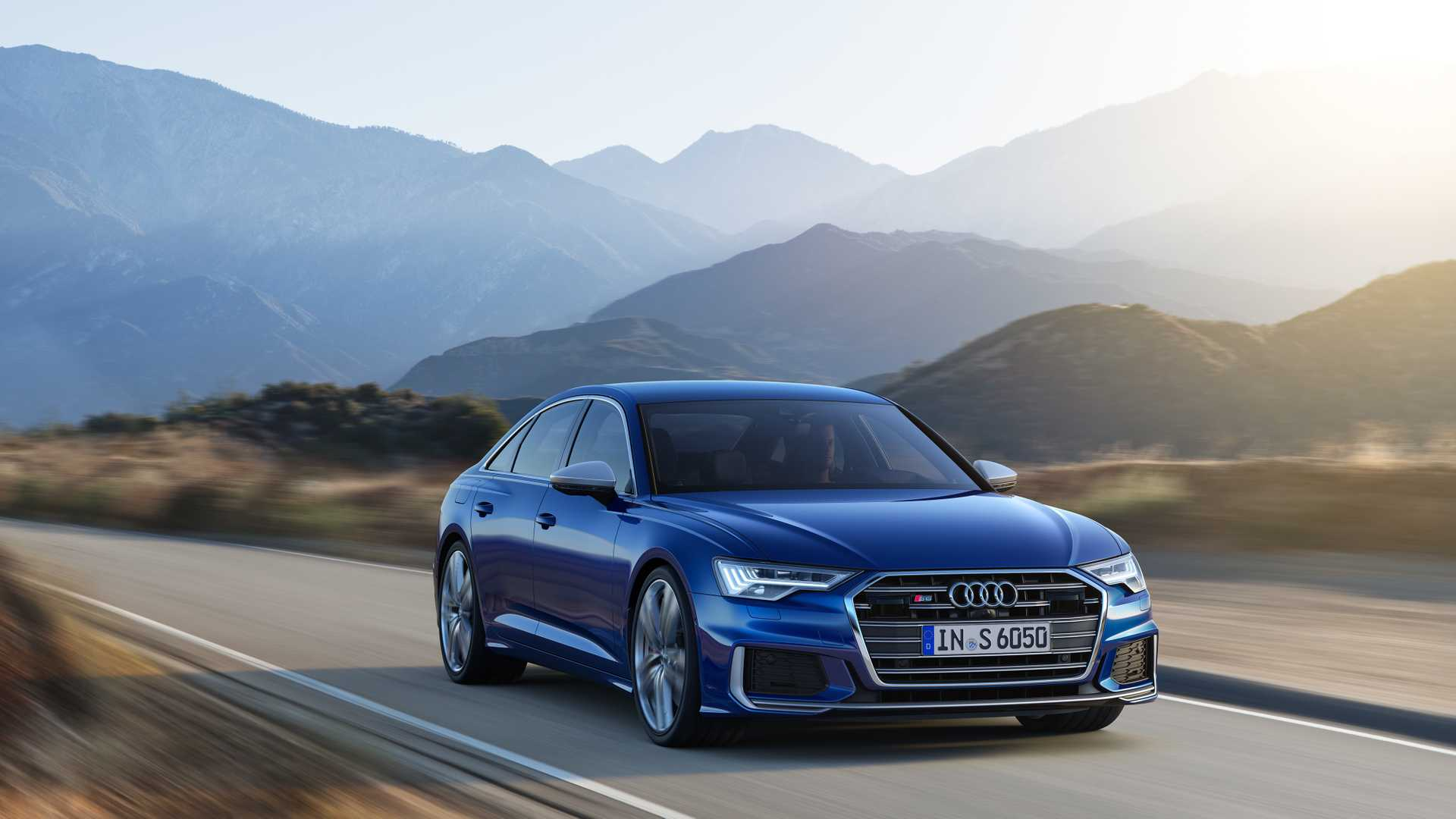 2019 Audi S6 Sedan TDI (Color: Navarra Blue) Front Wallpaper (1)