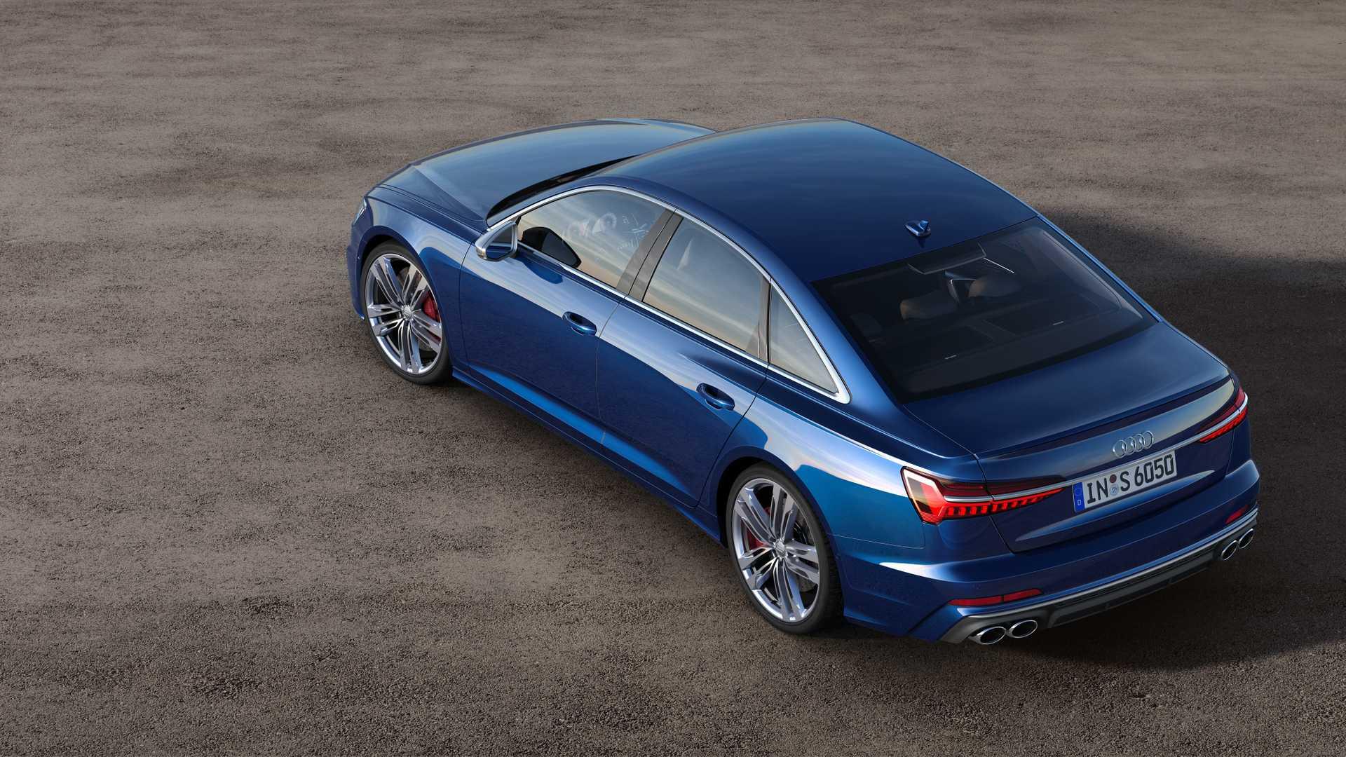2019 Audi S6 Sedan TDI (Color: Navarra Blue) Rear Three-Quarter Wallpaper (12)