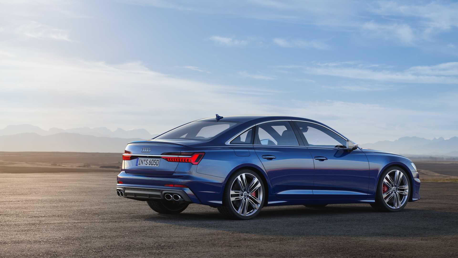 2019 Audi S6 Sedan TDI (Color: Navarra Blue) Rear Three-Quarter Wallpaper (13)
