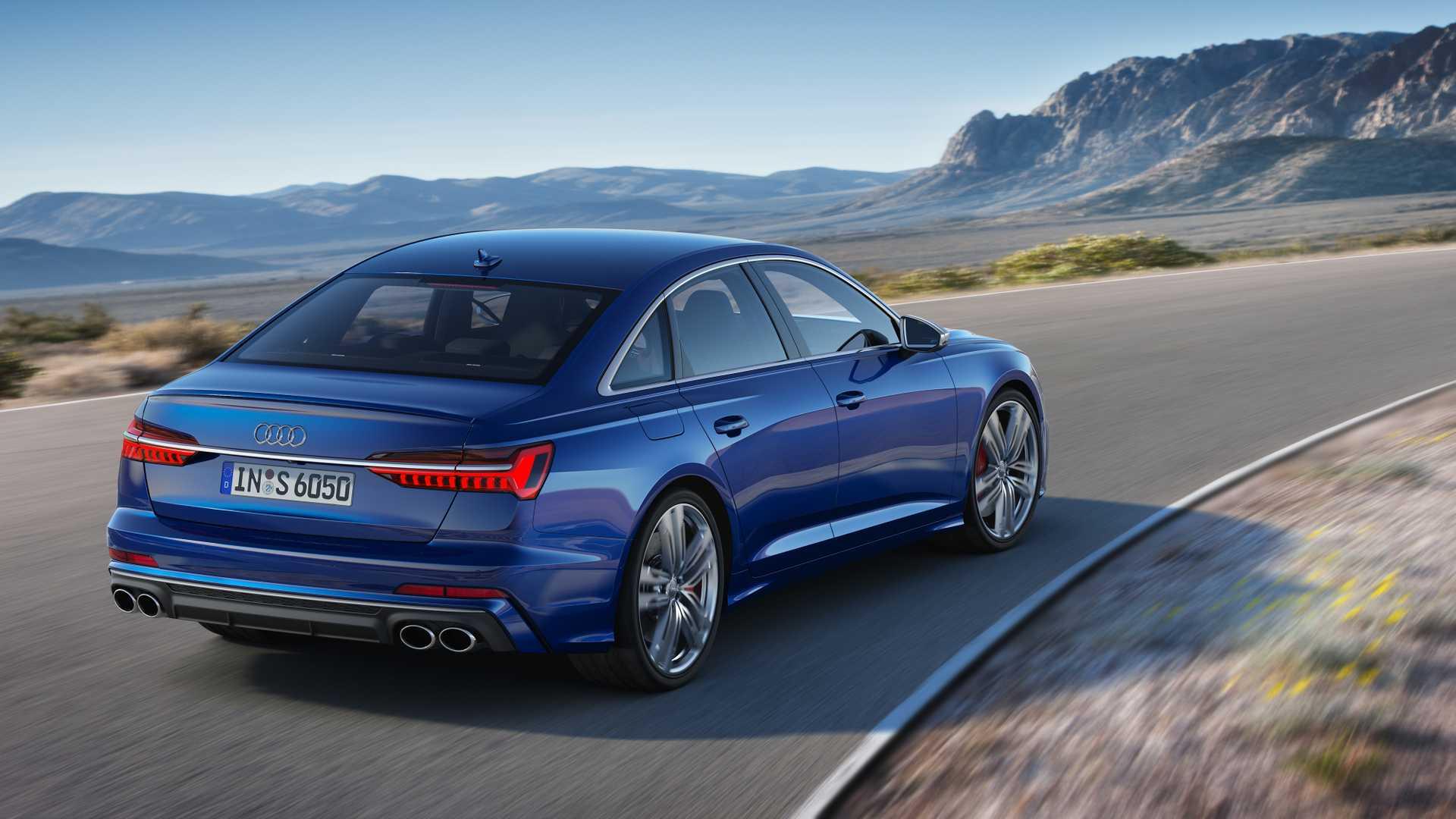 2019 Audi S6 Sedan TDI (Color: Navarra Blue) Rear Three-Quarter Wallpaper (6)