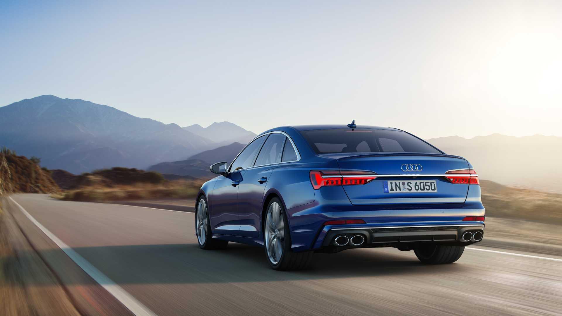 2019 Audi S6 Sedan TDI (Color: Navarra Blue) Rear Wallpaper (7)