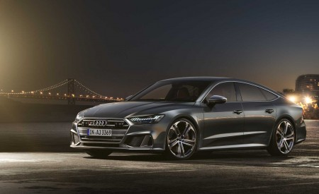 2019 Audi S7 Sportback TDI (Color: Daytona Grey) Front Three-Quarter Wallpaper 450x275 (12)