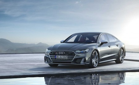 2019 Audi S7 Sportback TDI (Color: Daytona Grey) Front Three-Quarter Wallpaper 450x275 (5)