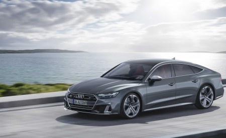 2019 Audi S7 Sportback TDI (Color: Daytona Grey) Front Three-Quarter Wallpaper 450x275 (4)