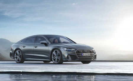 2019 Audi S7 Sportback TDI (Color: Daytona Grey) Front Three-Quarter Wallpaper 450x275 (6)