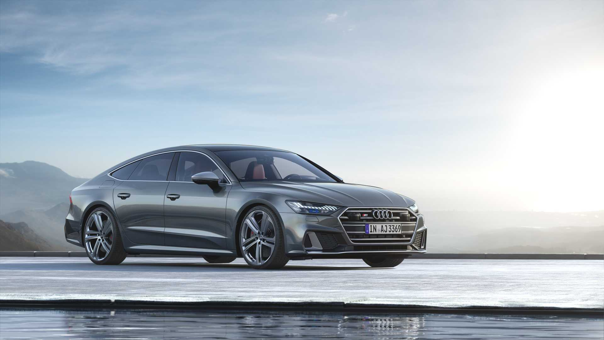 2019 Audi S7 Sportback TDI (Color: Daytona Grey) Front Three-Quarter Wallpapers (6)