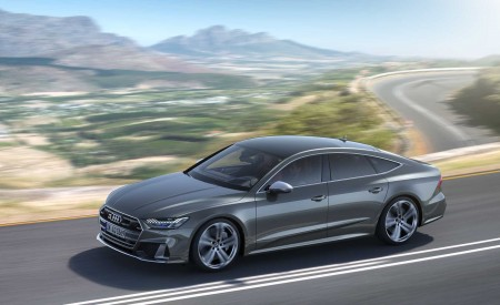 2019 Audi S7 Sportback TDI (Color: Daytona Grey) Front Three-Quarter Wallpaper 450x275 (2)