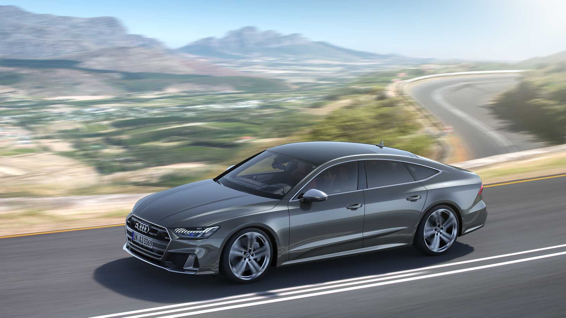 2019 Audi S7 Sportback TDI (Color: Daytona Grey) Front Three-Quarter Wallpapers (2)