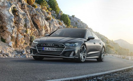 2019 Audi S7 Sportback TDI (Color: Daytona Grey) Front Wallpaper 450x275 (7)