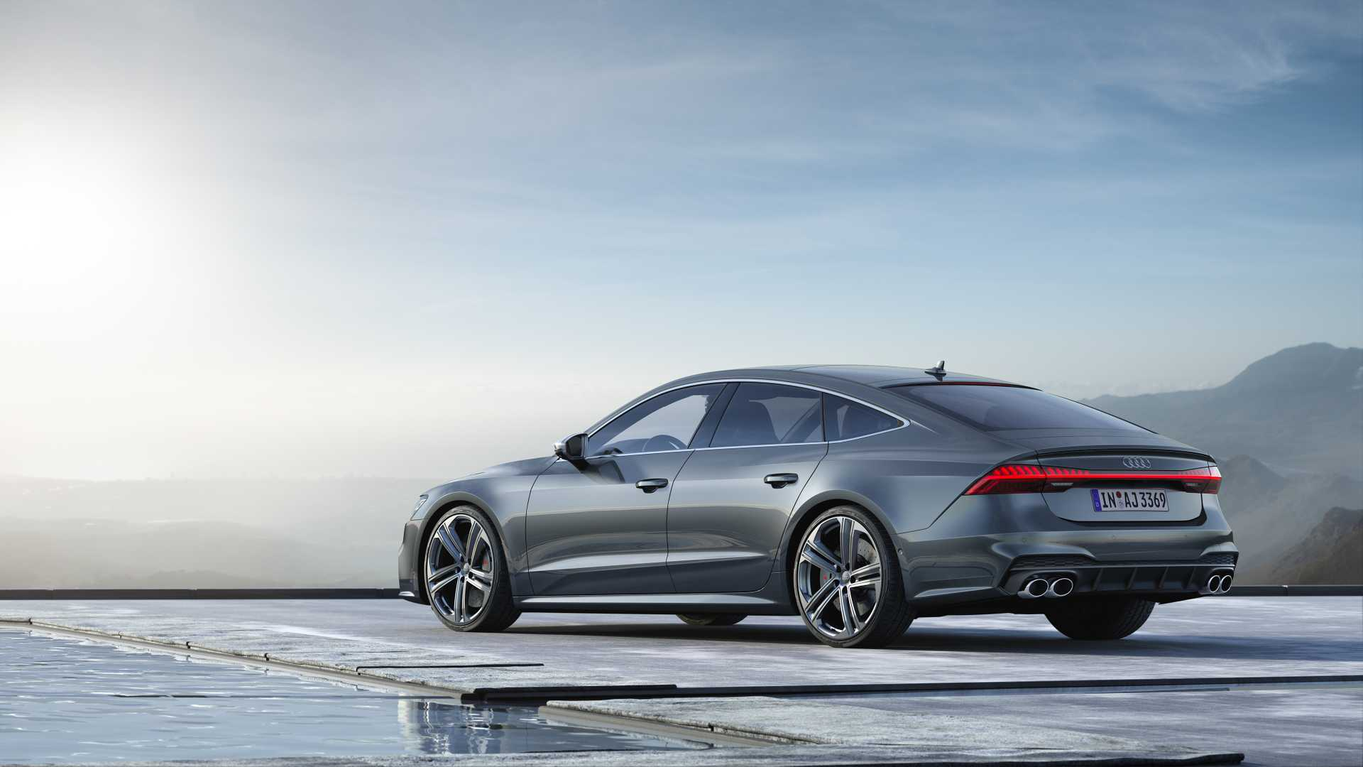 2019 Audi S7 Sportback TDI (Color: Daytona Grey) Rear Three-Quarter Wallpapers (8)