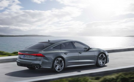 2019 Audi S7 Sportback TDI (Color: Daytona Grey) Rear Three-Quarter Wallpaper 450x275 (9)