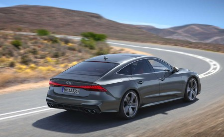 2019 Audi S7 Sportback TDI (Color: Daytona Grey) Rear Three-Quarter Wallpaper 450x275 (3)