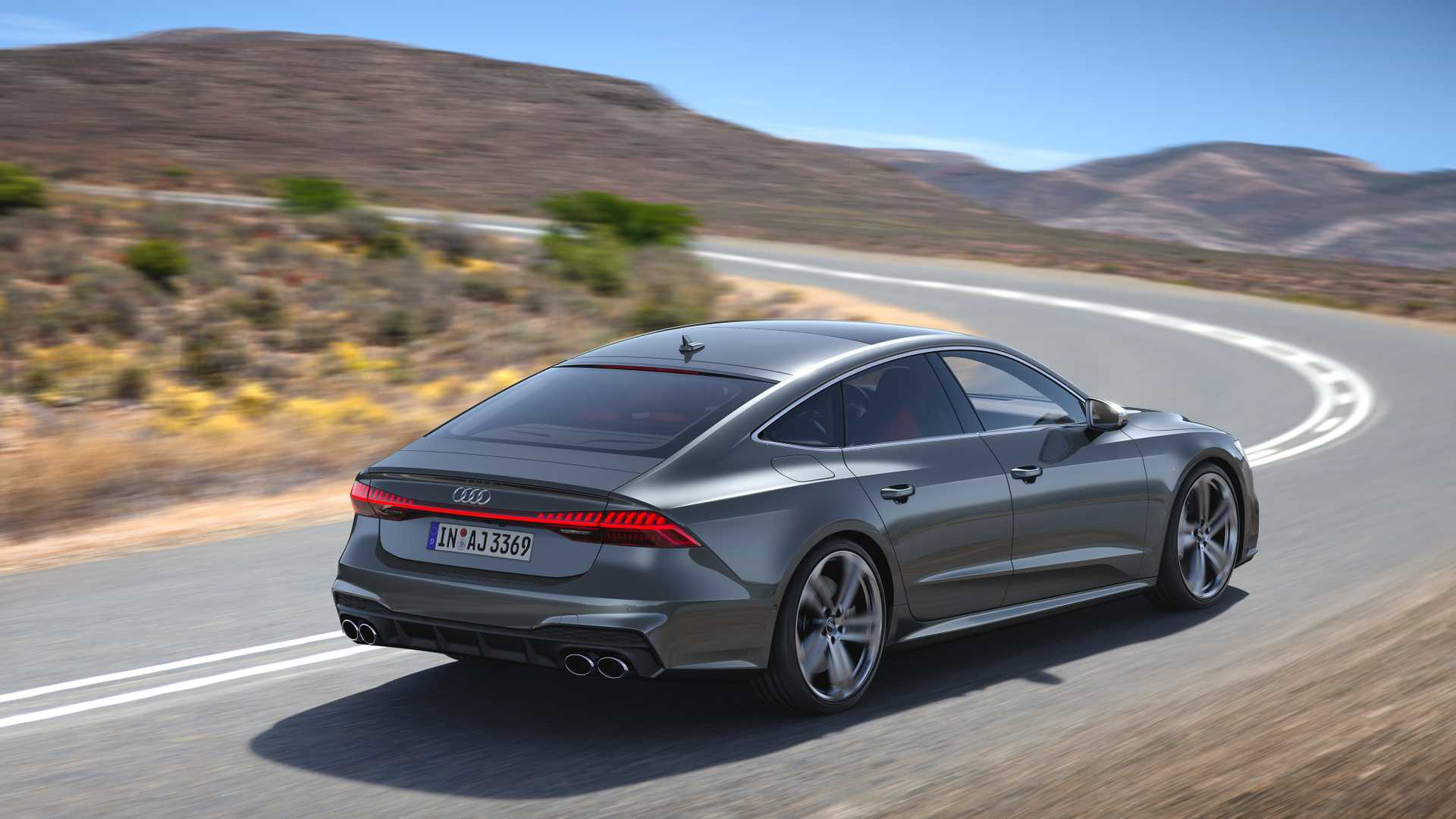 2019 Audi S7 Sportback TDI (Color: Daytona Grey) Rear Three-Quarter Wallpapers (3)