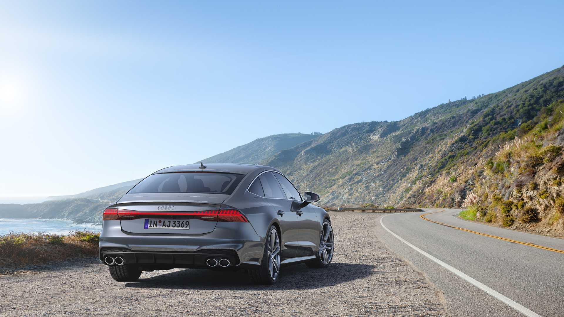 2019 Audi S7 Sportback TDI (Color: Daytona Grey) Rear Wallpaper (11)