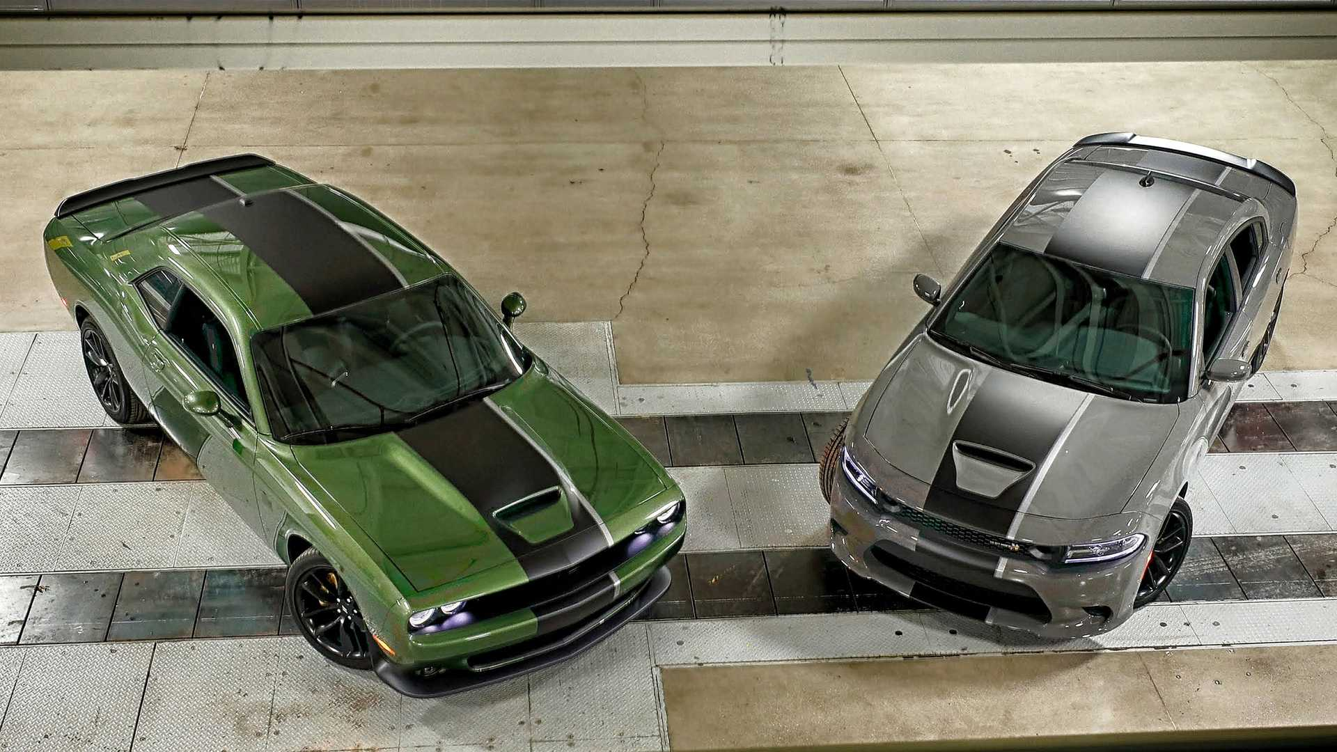 2019 Dodge Challenger RT and 2019 Dodge Charger Stars Stripes Edition Front Wallpaper