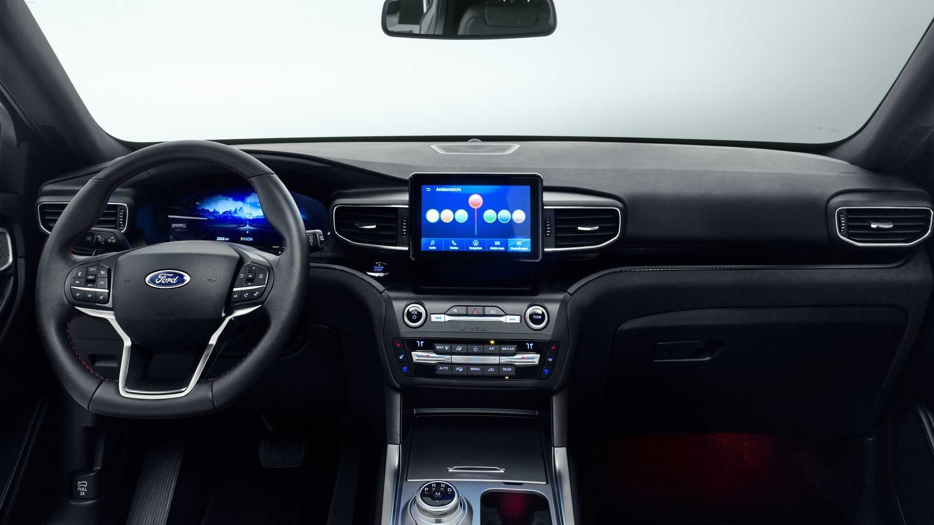 2019 Ford Explorer Plug-In Hybrid (Euro-Spec) Interior Cockpit Wallpapers (9)